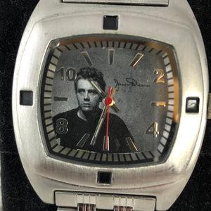 CMG Worldwide Accessories - James Dean 50th Anniversary Watch Rectangular Face